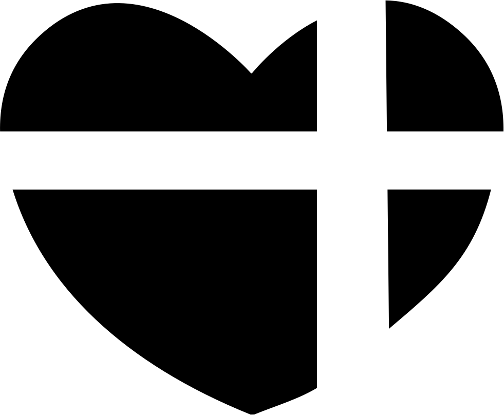 Outlined cross heart clipart svg transparent download Heart With A Cross Of Present Ribbon Svg Png Icon Free Download ... svg transparent download