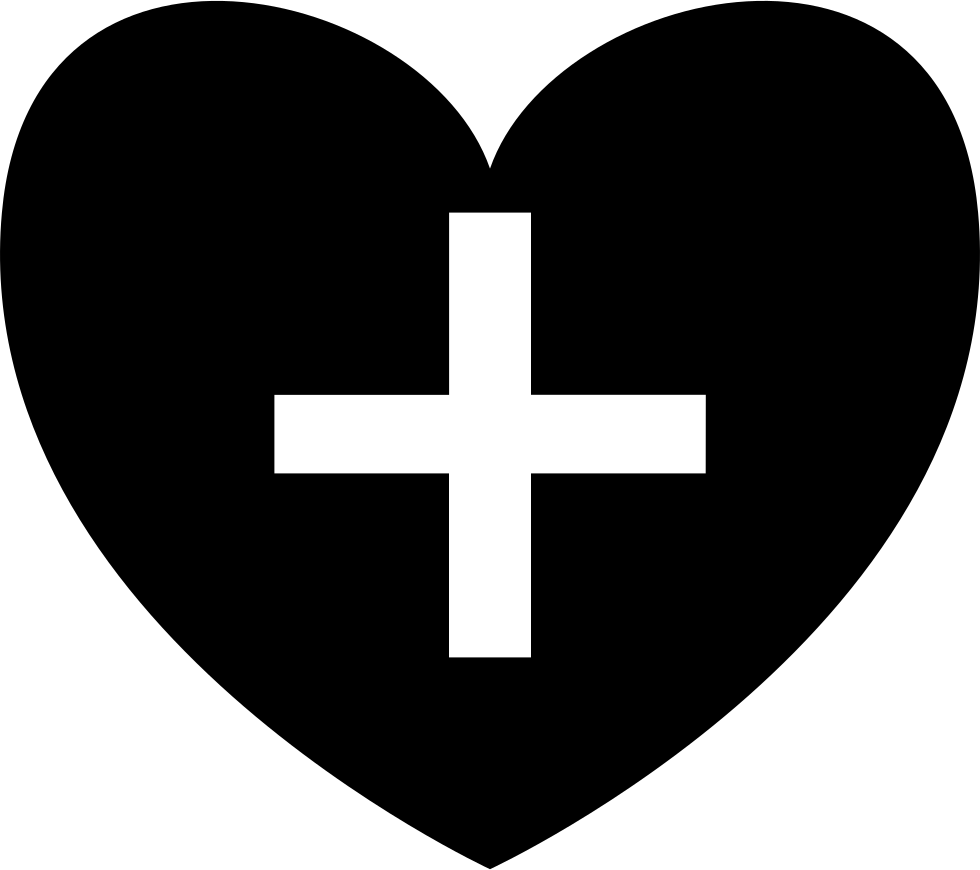 Outlined cross heart clipart jpg freeuse stock Positive Heart Symbol Shape With Plus Sign Svg Png Icon Free ... jpg freeuse stock