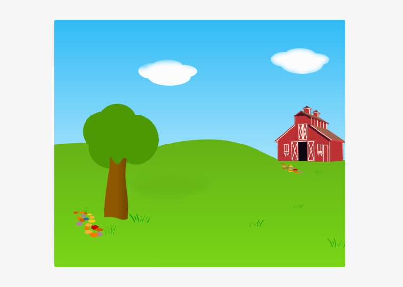 Outside background clipart vector Farm Background Clip Art At Clker - Outside Clipart - Free ... vector