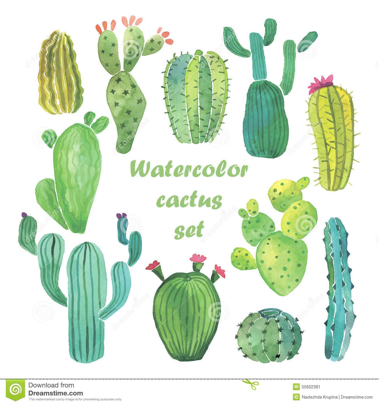 Outside house cactus clipart free to use black and white download Watercolor Cactus Set - Download From Over 61 Million High ... black and white download