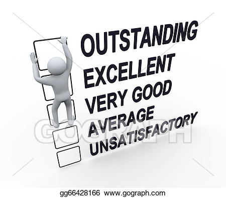 Outstanding performance clipart png freeuse Stock Illustration - 3d man performance evaluation form ... png freeuse