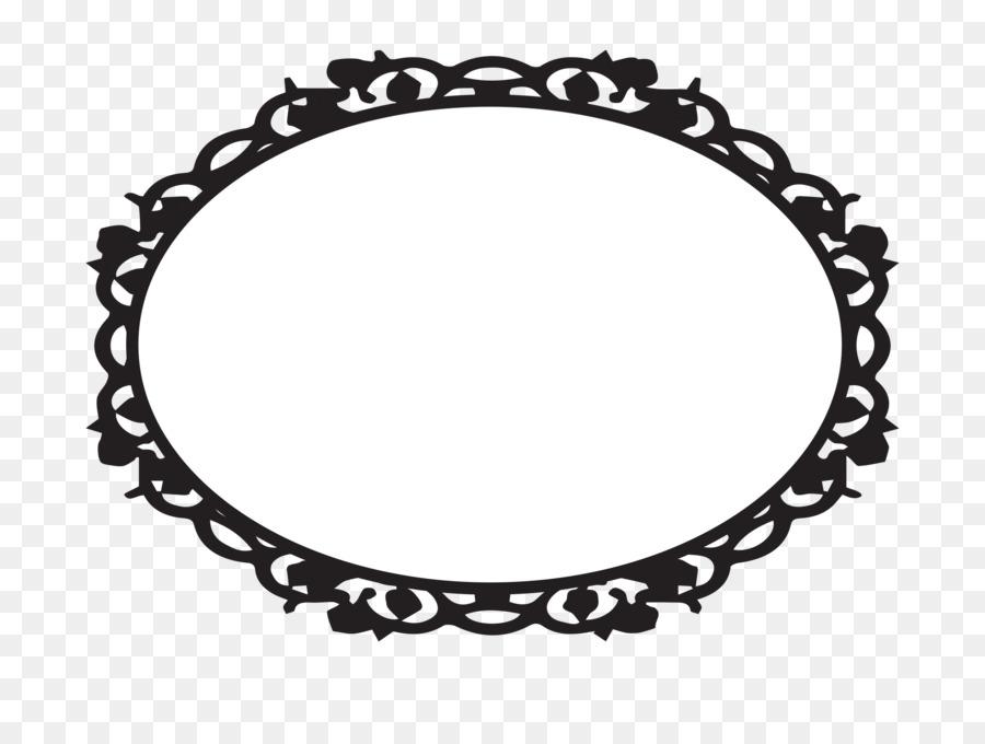 Oval photo frame clipart transparent Black Line Background clipart - Graphics, Black, Circle ... transparent