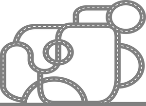 Oval race track clipart clip art black and white Oval Race Track Clipart   Free Images at Clker.com - vector ... clip art black and white