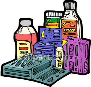 Over the counter clipart clip art royalty free download Assortment of Medications - Royalty Free Clipart Picture clip art royalty free download