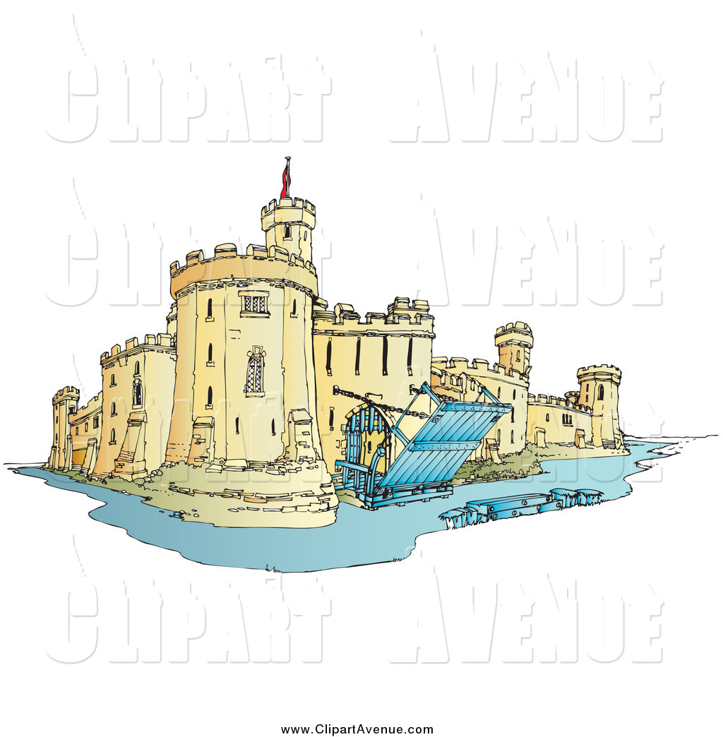 Over the moat clipart graphic free Avenue Clipart of a Castle with a Moat by Snowy - #698 graphic free