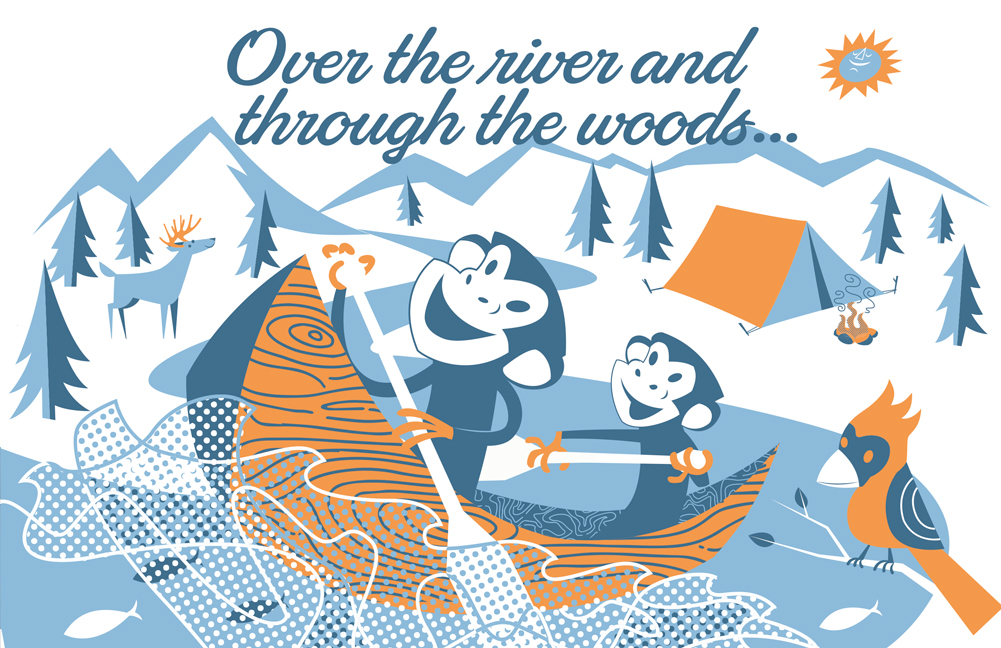 Over the river and throught hte woods clipart png download Over the River and Through the Woods on Behance png download