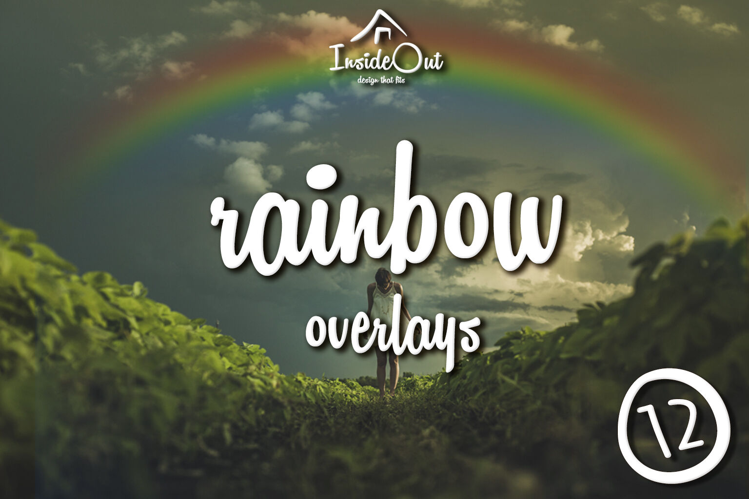 Overlays photoshop clipart picture free stock Rainbow Overlay for Photoshop. Rainbow Backdrop Photo ... picture free stock