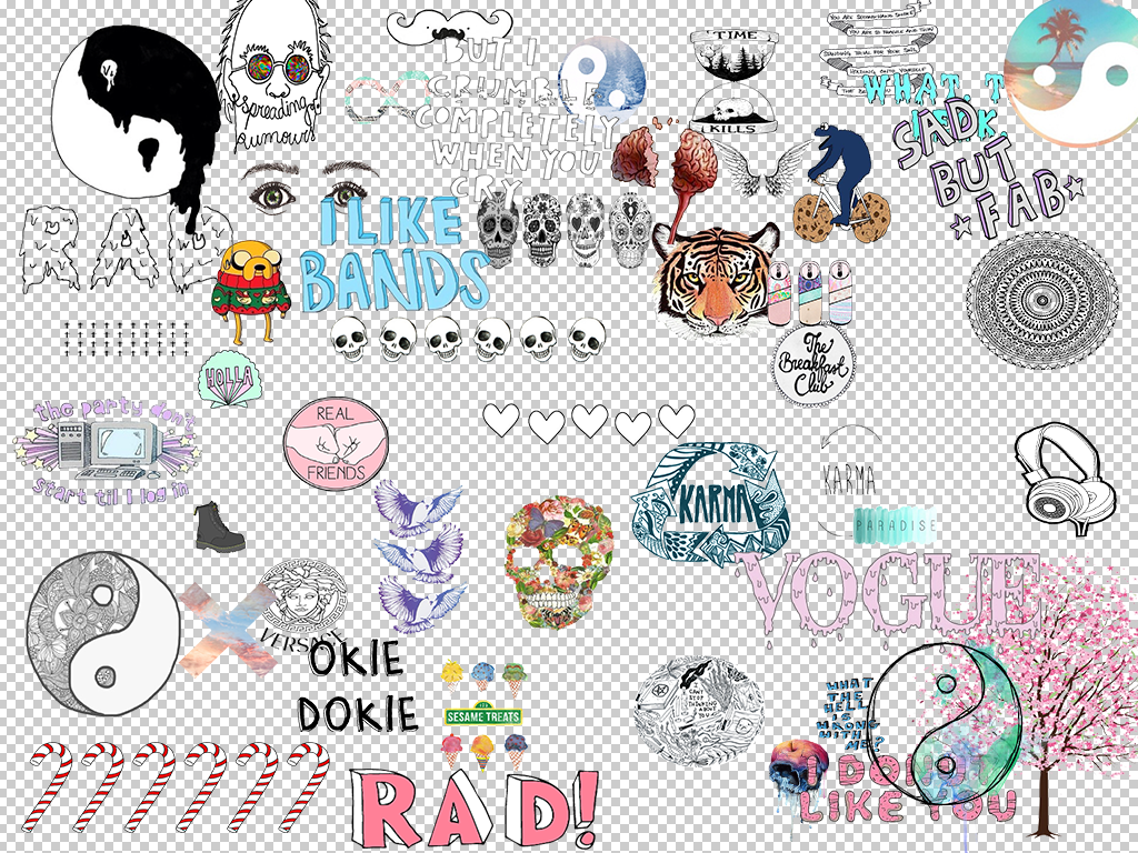 Overlays tumblr clipart pack
