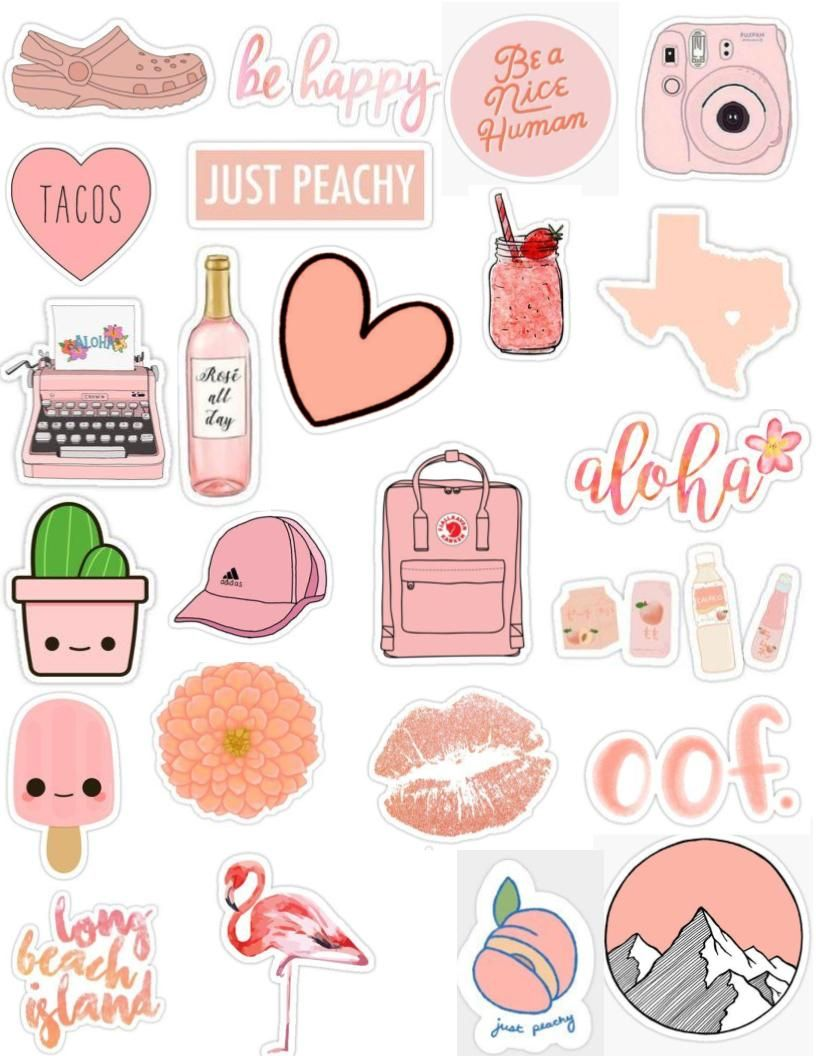 Overlays tumblr clipart pack png free download peach tumblr sticker pack aesthetic, cute, edits, overlays ... png free download