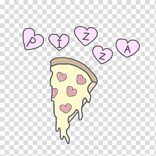 Overlays tumblr clipart pack picture royalty free Overlays , slice of pizza with heart toppings illustration ... picture royalty free