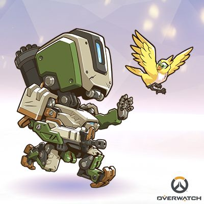 Overwatch bastion clipart