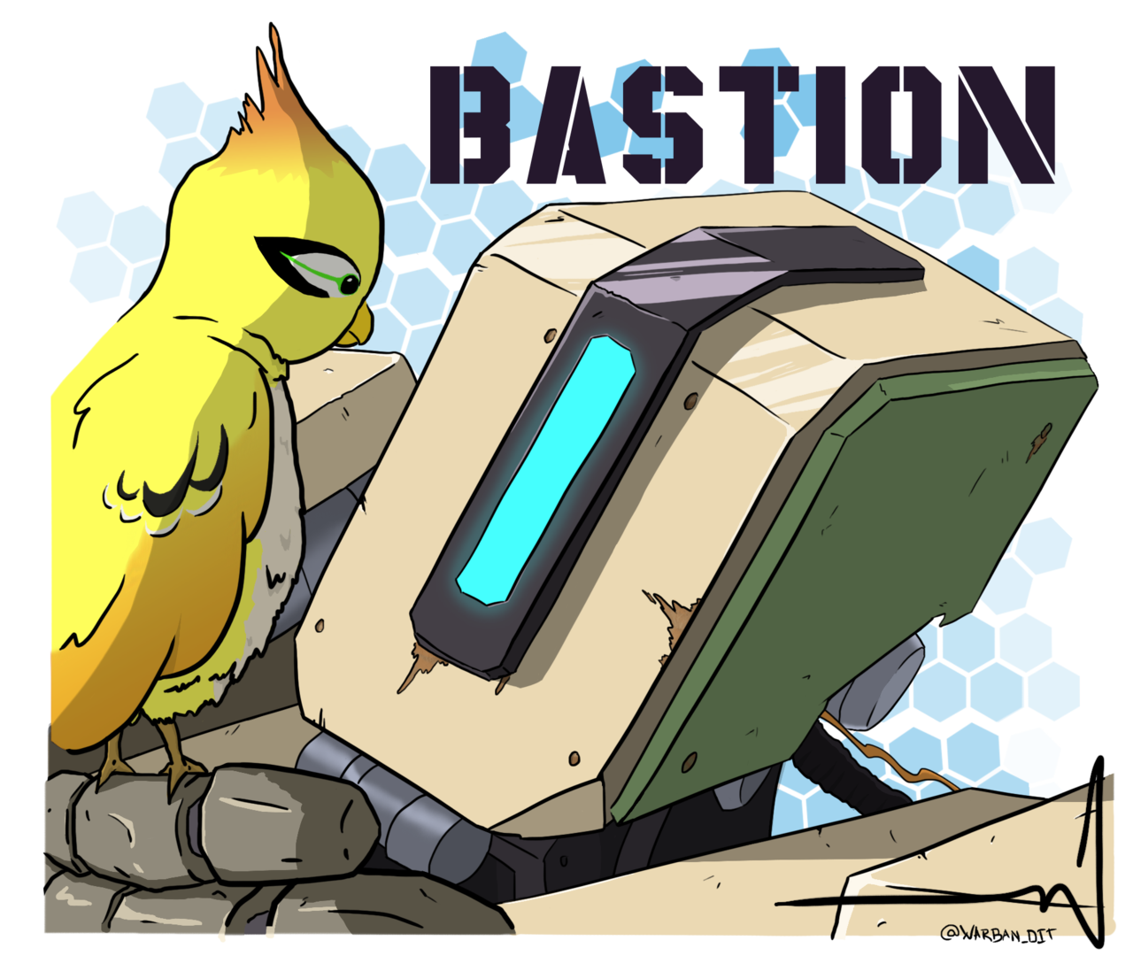 Overwatch bastion clipart graphic black and white Bastion on OverWatch-Fanart - DeviantArt graphic black and white