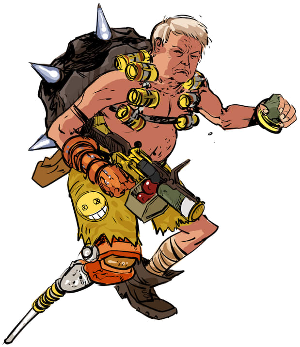 Overwatch bastion clipart clip royalty free stock Donald Trump As Terrible Overwatch Characters Is Too Perfect ... clip royalty free stock