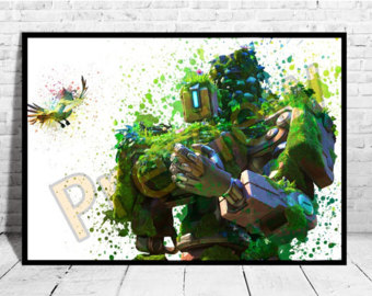 Overwatch bastion clipart jpg library download Overwatch bastion   Etsy jpg library download