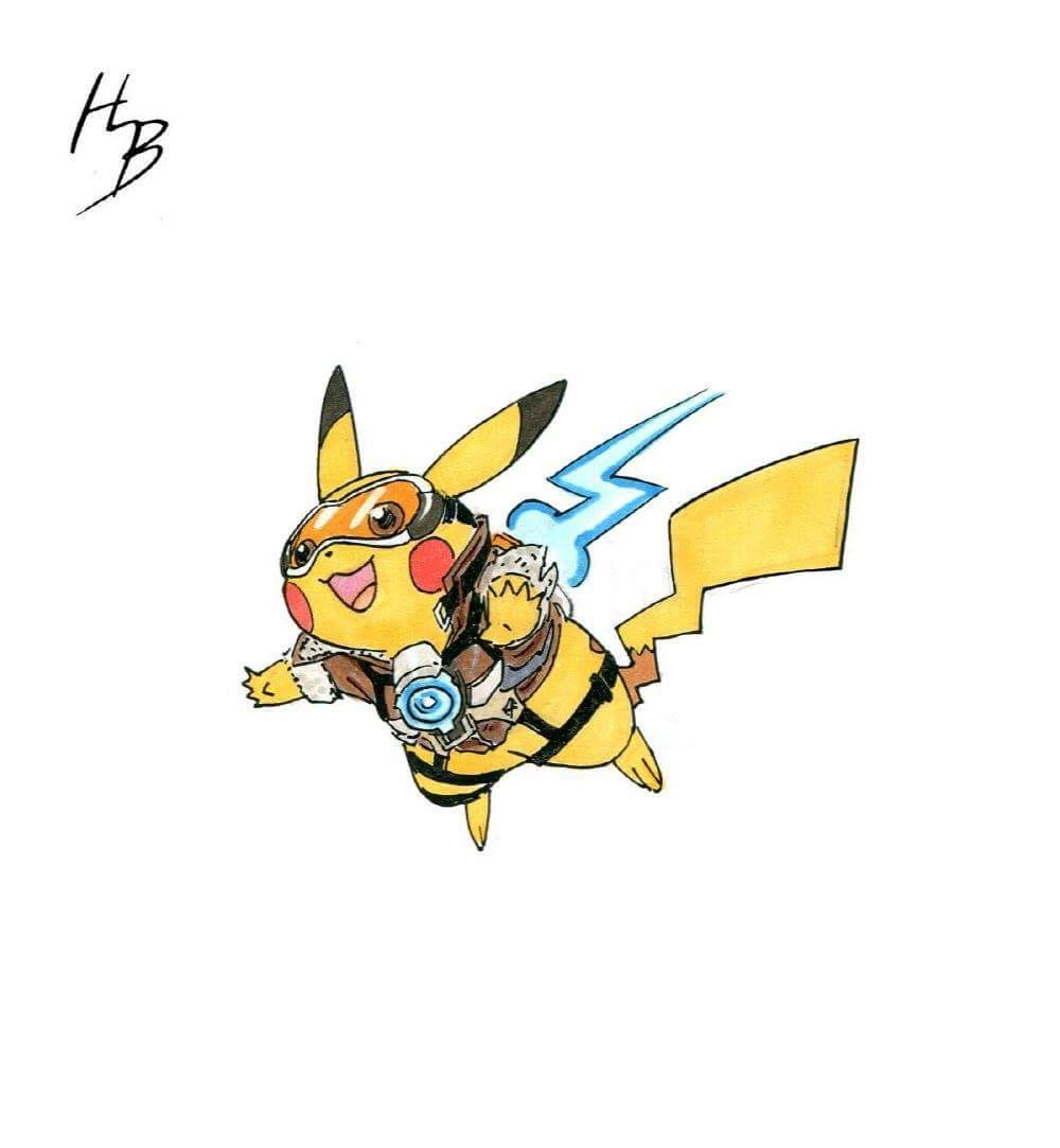 Overwatch character clipart image transparent This Artist Is Turning Pokemon into Overwatch Characters and It's ... image transparent