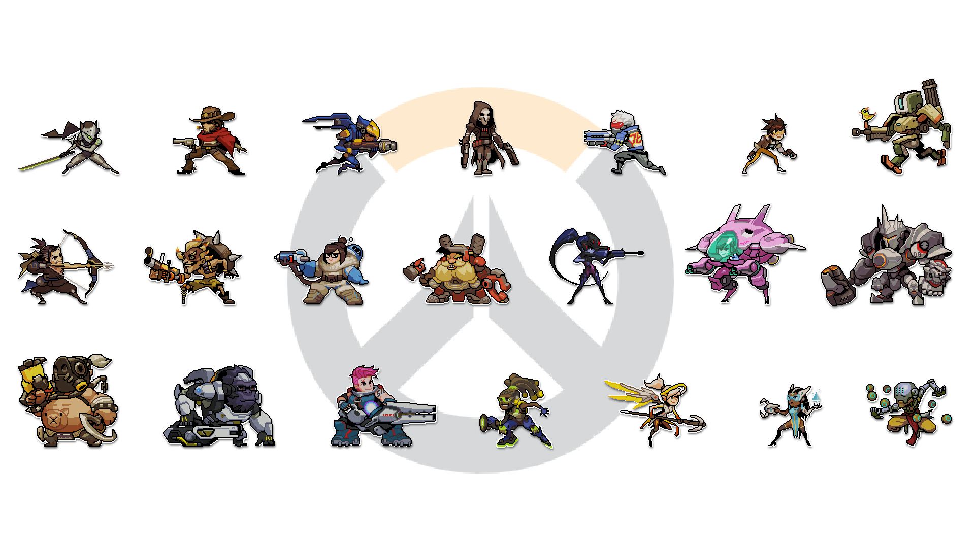 Overwatch clipart 16x16 picture royalty free Overwatch clipart 16x16 - ClipartFest picture royalty free