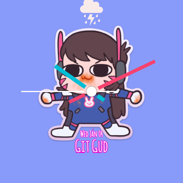 Overwatch clipart dva png free library Overwatch DVa Gremline for Moto 360 2015   FaceRepo png free library