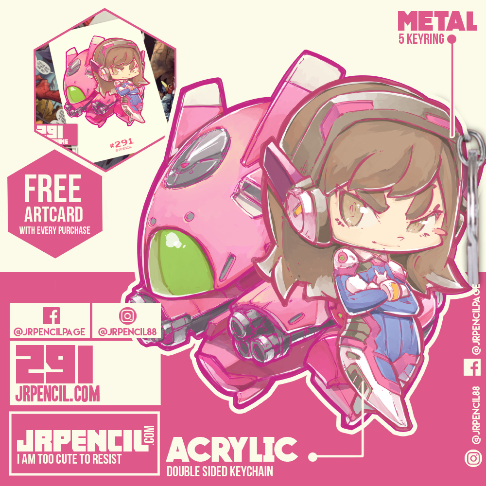 Overwatch clipart dva image black and white 291 Overwatch DVA Keychain by Jrpencil · Jrpencil · Online Store ... image black and white