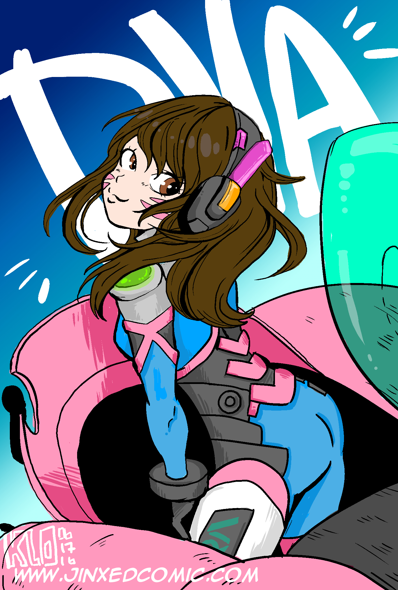 Overwatch clipart dva vector free library Fan Art Fridays: DVA from Overwatch – Jinxed! vector free library