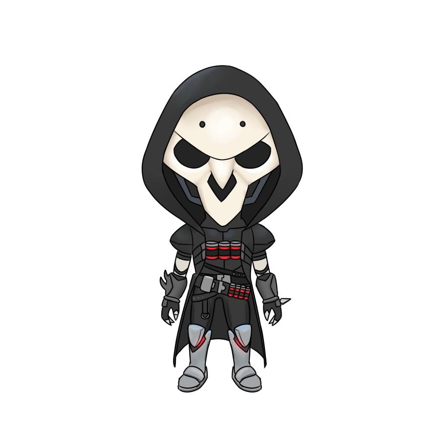 Overwatch clipart reaper picture freeuse stock Finally finished my chibi reaper : Overwatch picture freeuse stock