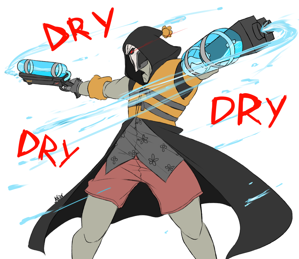 Overwatch clipart reaper clip art library Overwatch: Reaper tries to get everyone....wet by Mikouchan on ... clip art library
