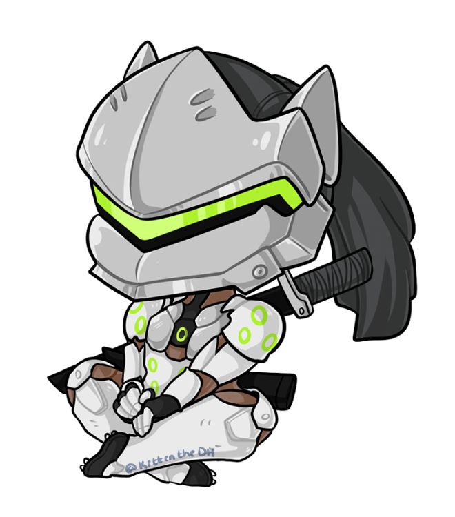 Overwatch genji clipart vector library download Genji Chibi by xNekorux | Overwatch | Pinterest | Chibi, Overwatch ... vector library download