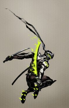 Overwatch genji clipart clipart free stock Overwatch Genji print/poster by PopArcade on Etsy | Pop Arcade ... clipart free stock