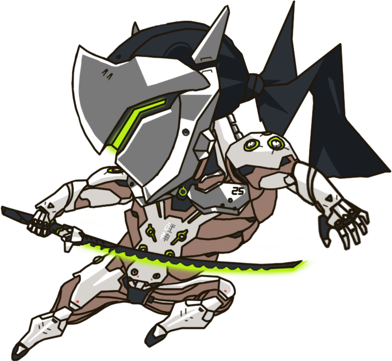 Overwatch genji clipart svg royalty free Genji chibi | Overwatch on Behance svg royalty free