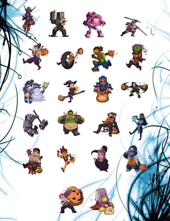 Overwatch halloween clipart vector library download Overwatch Halloween Terror Sprays Sticker Sheets Choose any vector library download