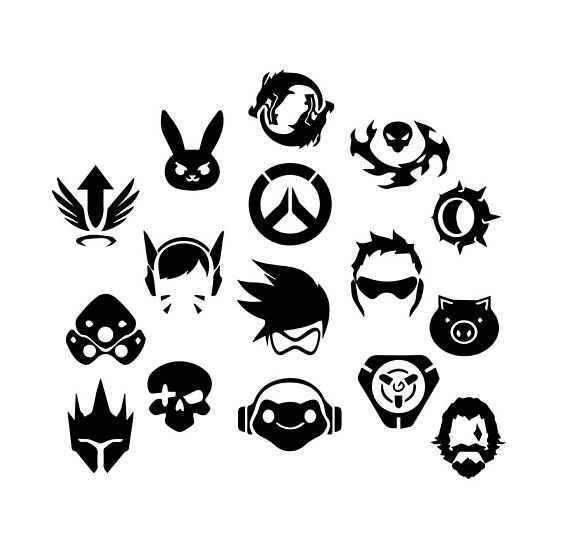 Overwatch icon clipart clip black and white download Overwatch SVGs #svg #vector #vectorart #dxf #circuit ... clip black and white download