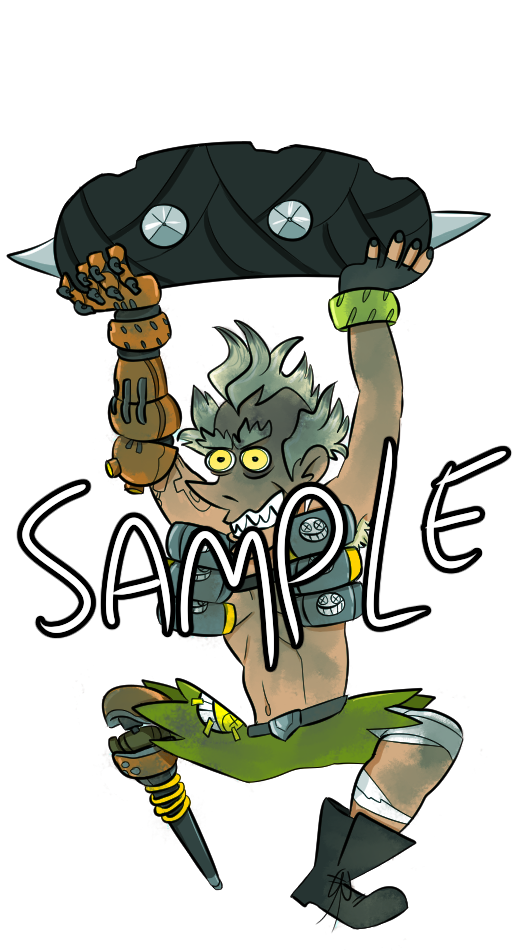 Overwatch junkrat clipart png royalty free library OVERWATCH Junkrat Double Sided Hanging Strap on Storenvy png royalty free library