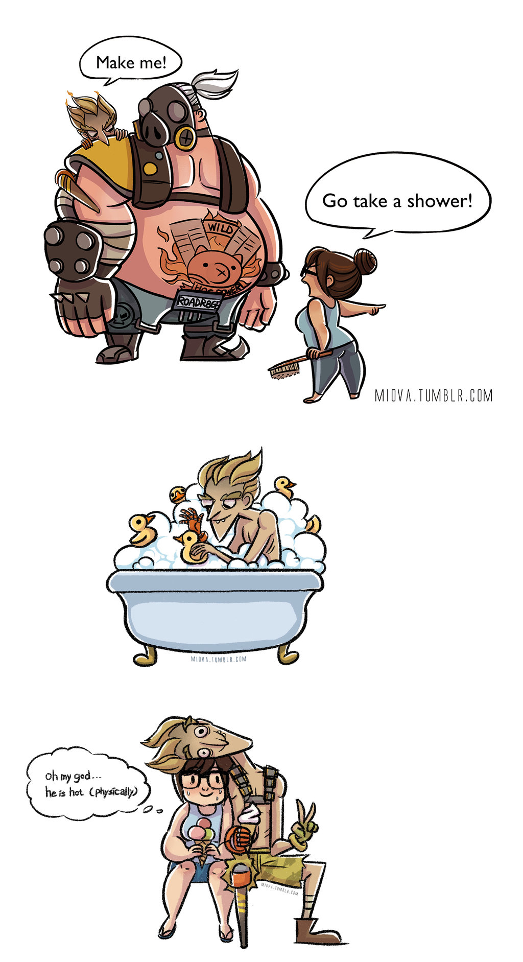 Overwatch junkrat clipart clip art freeuse library Overwatch-junkrat And Mei by miova on DeviantArt clip art freeuse library