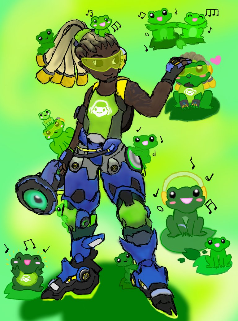 Overwatch lucio clipart png royalty free Overwatch- Lucio + Frogs by Soar319 on DeviantArt png royalty free