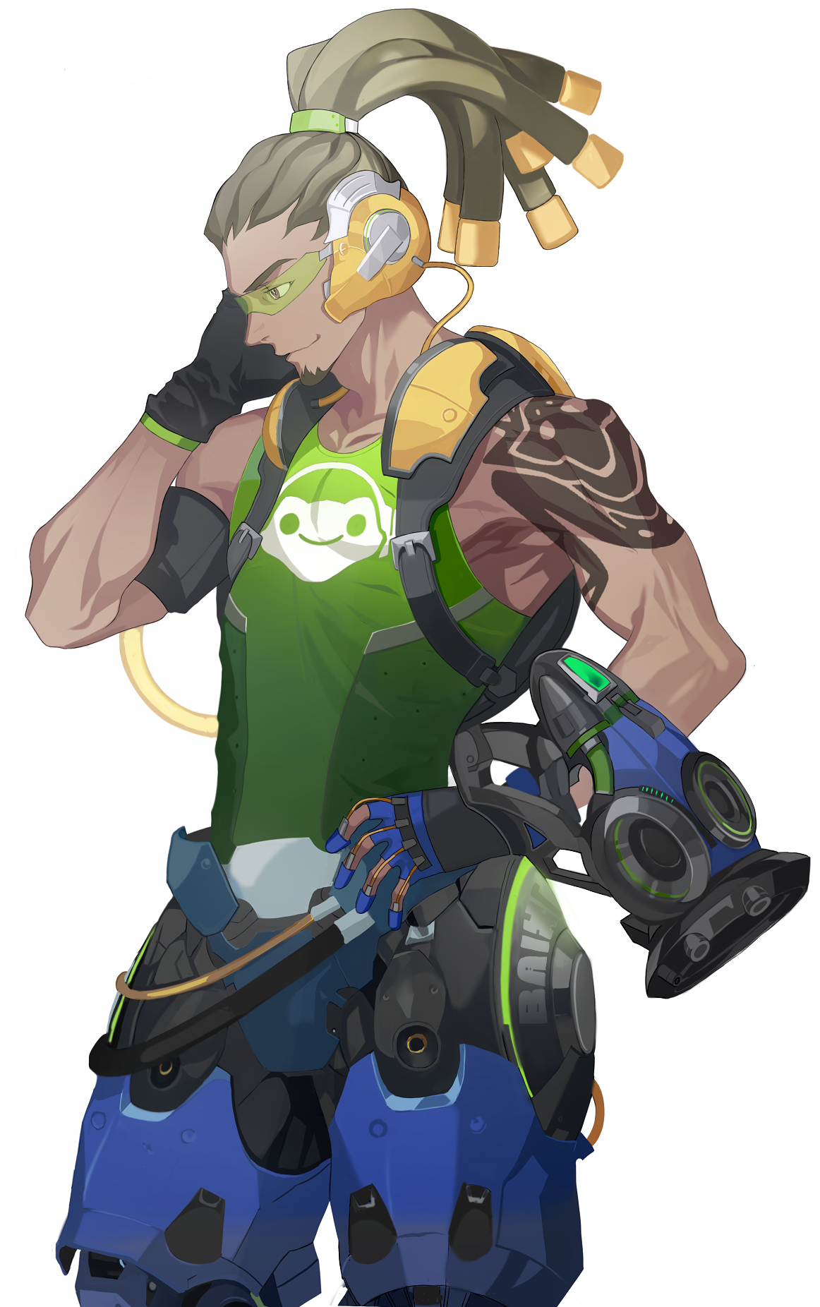 Overwatch lucio clipart image black and white download Lucio by 아소 (@ASO_LAGO) | Overwatch | Know Your Meme image black and white download