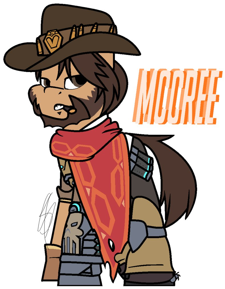 Overwatch mccree clipart png royalty free Overwatch] McCree Pony Style by EivilPotter on DeviantArt png royalty free
