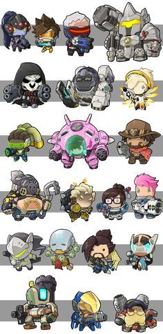 Overwatch mccree clipart svg freeuse library Overwatch - Chibi style; Widowmaker, Tracer, Soldier: 76 ... svg freeuse library