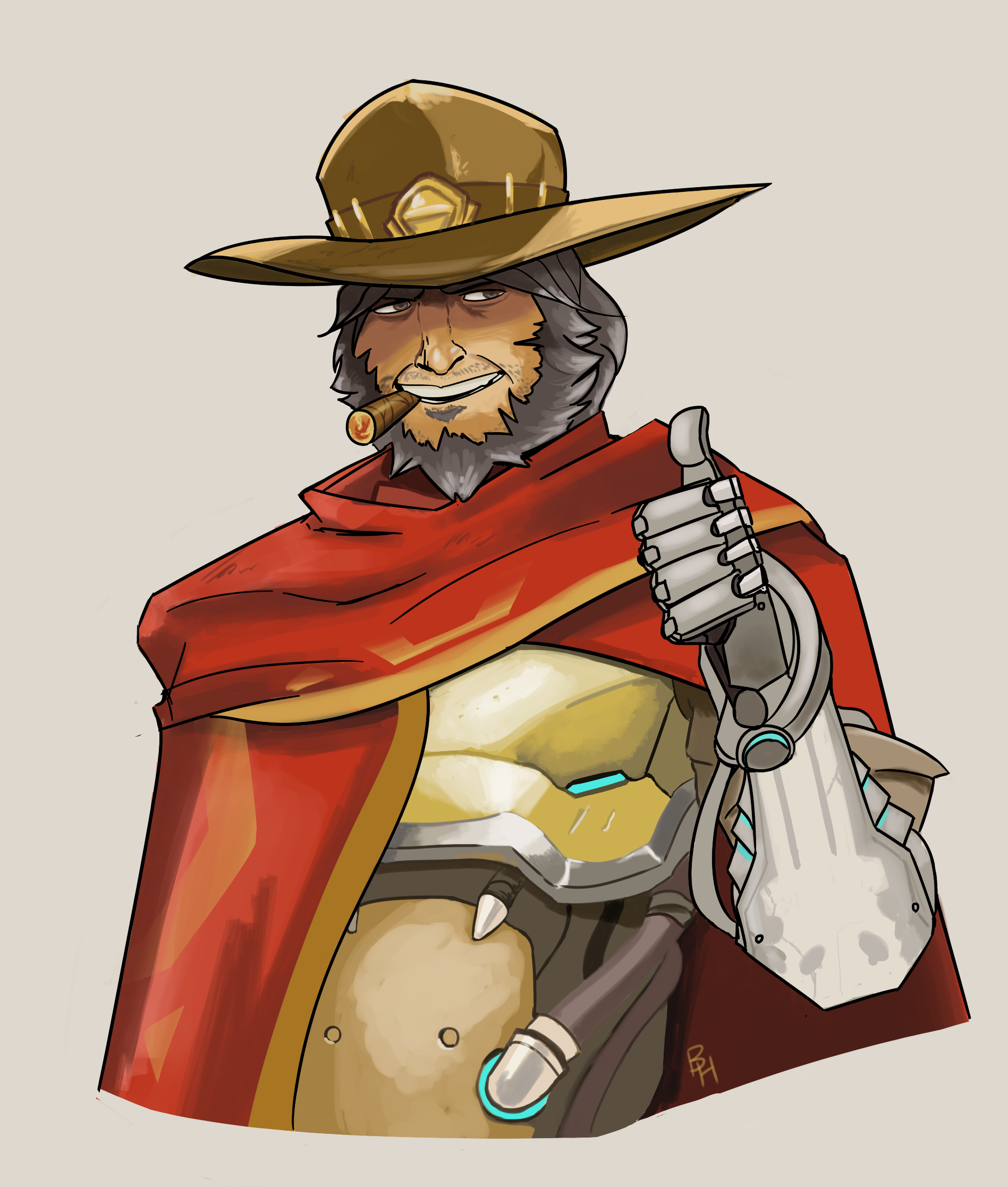 Overwatch mccree clipart vector transparent library Mccree clipart - ClipartFest vector transparent library