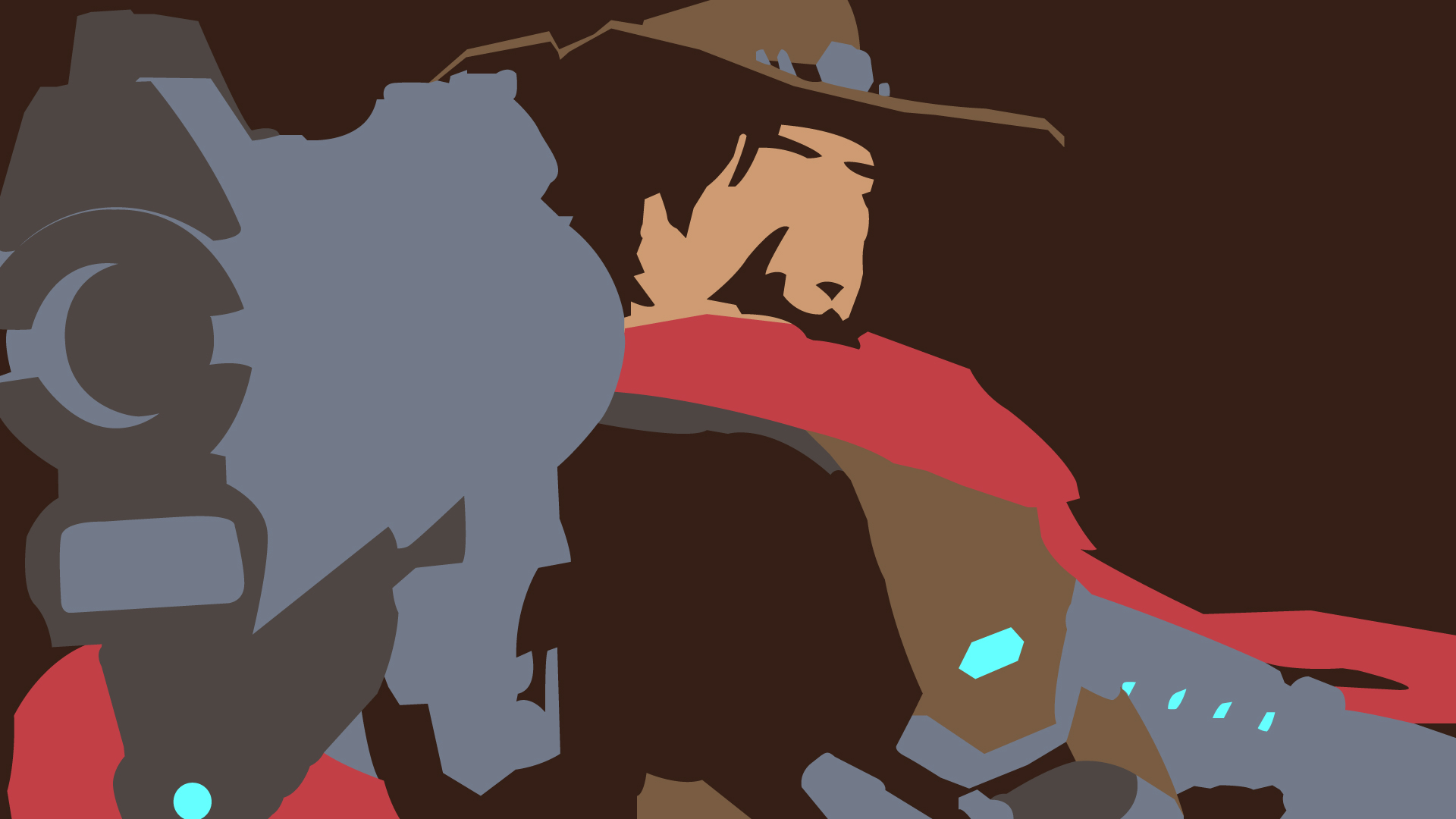 Overwatch mccree clipart clip art free Overwatch Vector Wallpaper - Mccree by choren64 on DeviantArt clip art free
