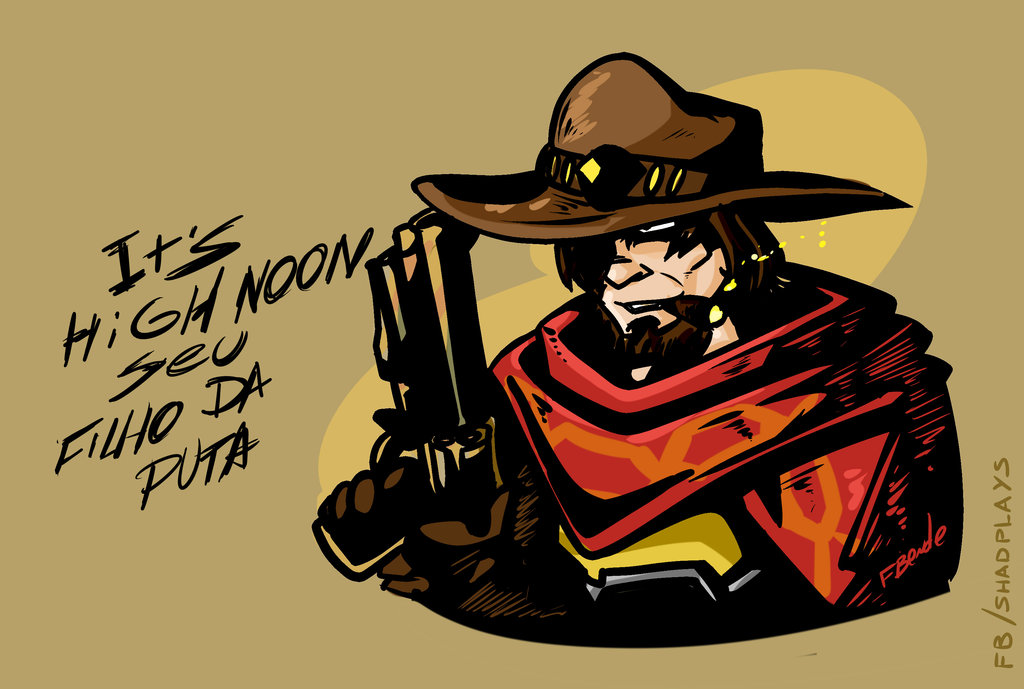 Overwatch mccree clipart graphic freeuse stock McCree - Overwatch by FBende on DeviantArt graphic freeuse stock