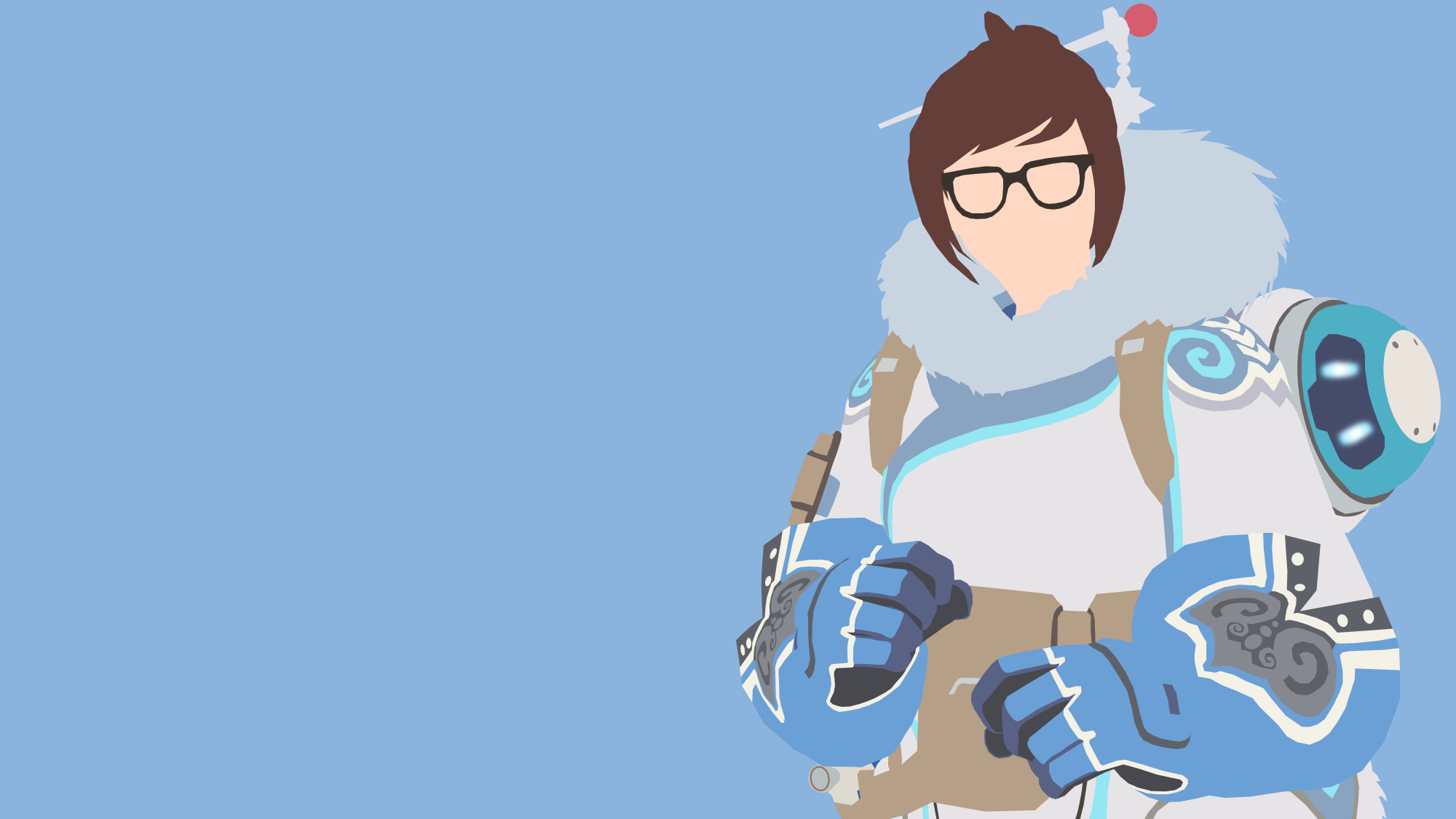 Overwatch minimalist clipart banner transparent download Mei from Overwatch by Reverendtundra on DeviantArt banner transparent download