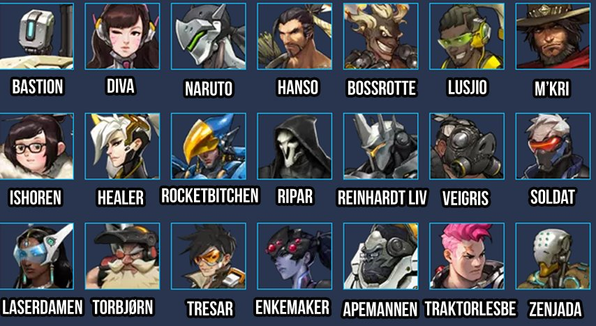 Overwatch player clipart names graphic library stock Teutron on Twitter: