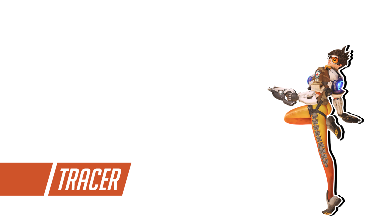 Overwatch tracer clipart vector black and white library Overwatch | Tracer Wallpaper by PERPU1 on DeviantArt vector black and white library