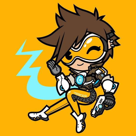 Overwatch tracer clipart banner royalty free library Overwatch Tracer chibi | Gaming goodness | Pinterest | Chibi and ... banner royalty free library