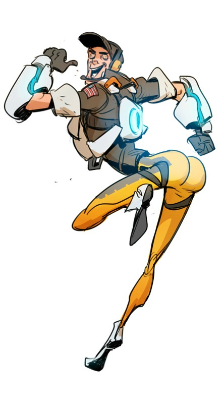 Overwatch tracer clipart jpg download With all the Overwatch Tracer butt drama, this pose should replace ... jpg download