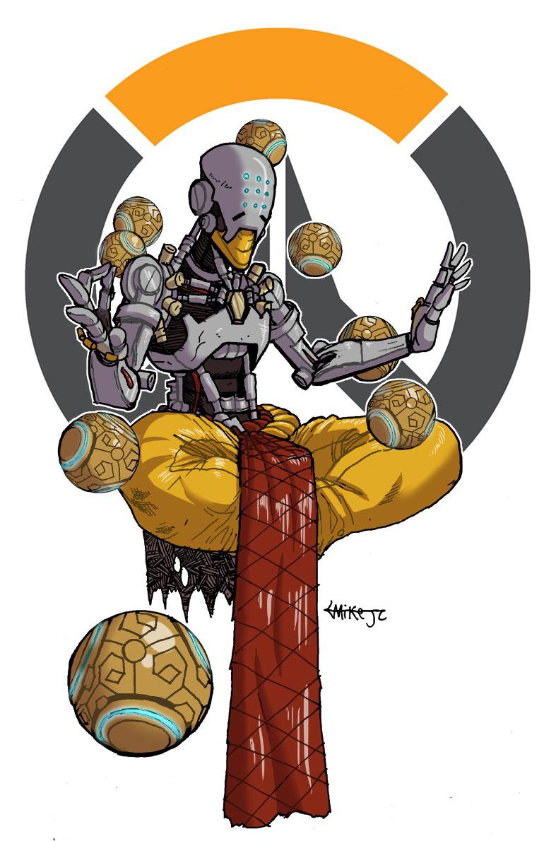 Overwatch zenyatta clipart image free Art of Michael Johnson-Curry Mike J.C.: Overwatch - Zenyatta image free