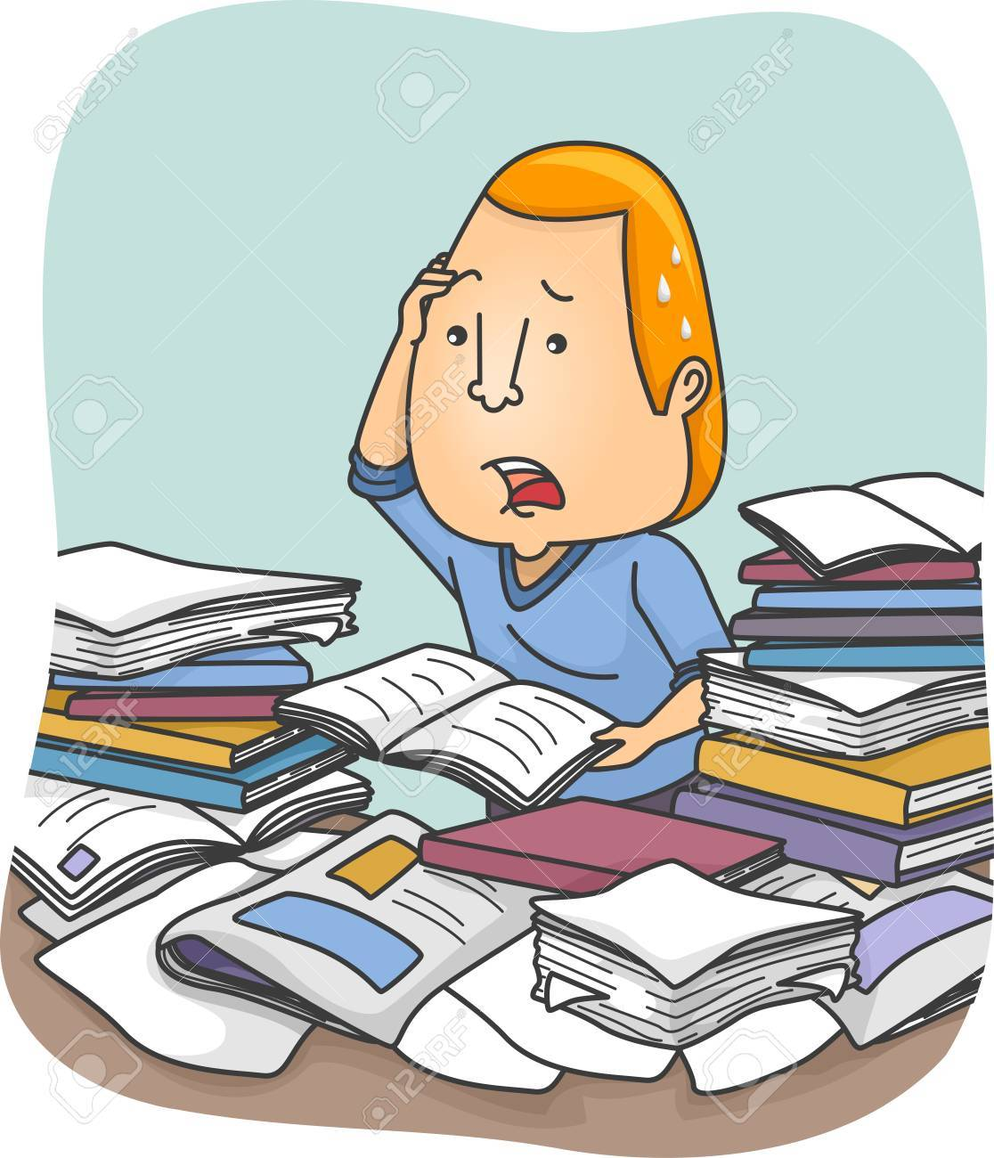 Overwhelmed clipart free stock Man Overwhelmed with Information » Clipart Station free stock