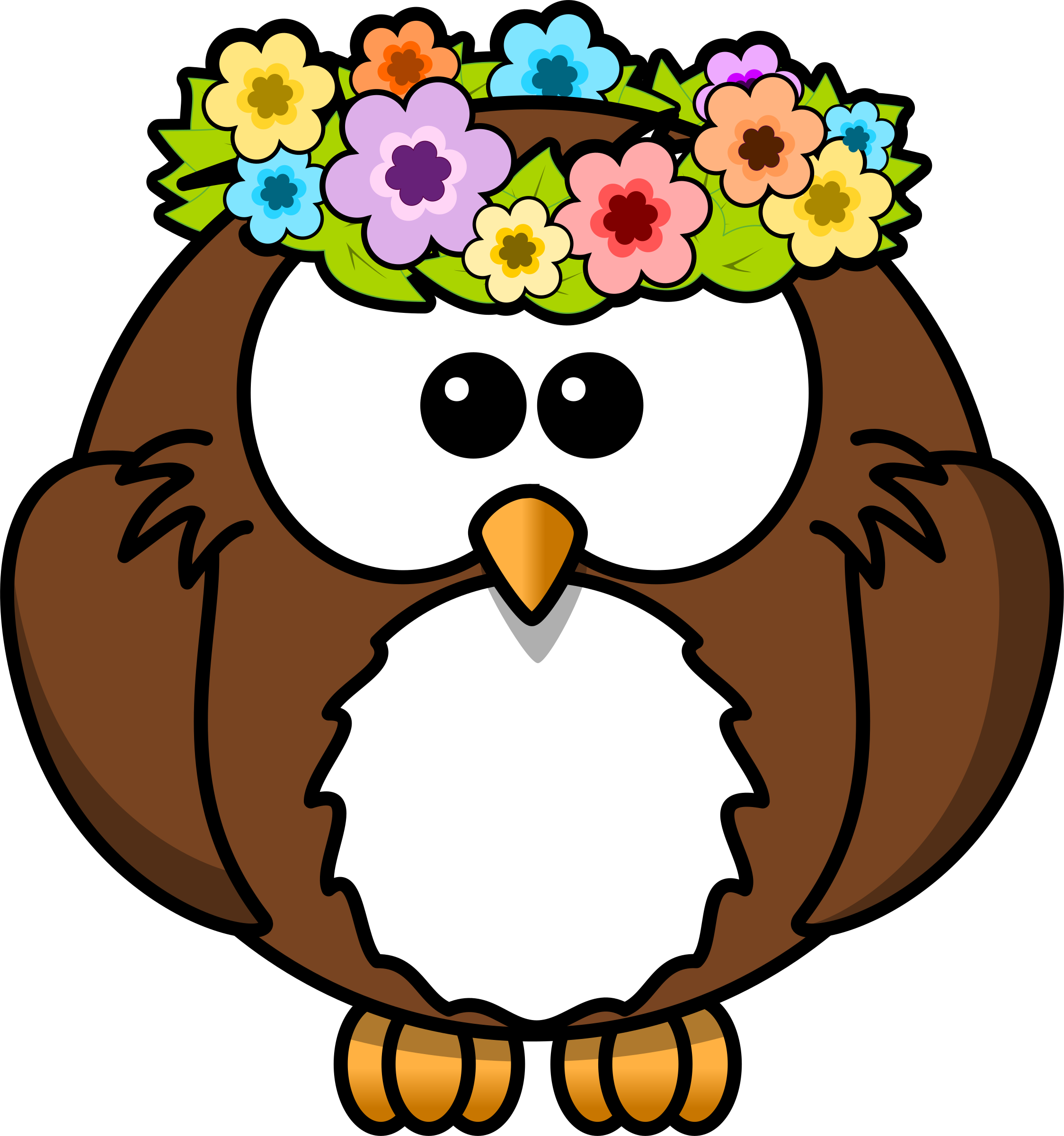 April showers clipart jpg transparent download Clipart - Owl with garland jpg transparent download