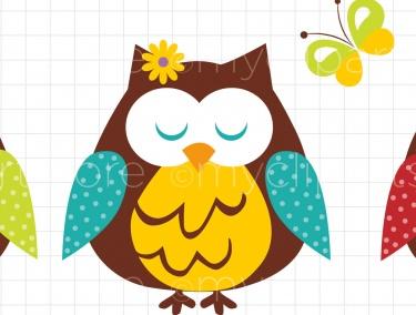 Owl april clipart graphic Spring owl clip art - ClipartFest graphic