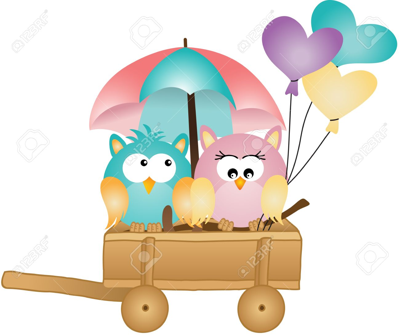 Owl april clipart picture freeuse download Owls In Spring Rain Royalty Free Cliparts, Vectors, And Stock ... picture freeuse download