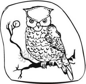 Owl at night black and white clipart png stock Owl Black And White Clipart | Free download best Owl Black ... png stock